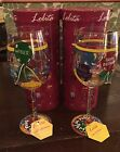 TWO 2 LOLITA LOVE MY WINE Aged to Perfection 15 Oz Wine Glass NEW In Box