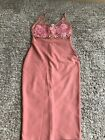 Edge Street Pink Bodycon Dress With Lace Detail - Womens Size 8