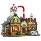 Lemax Christmas Village BELL'S GOURMET POPCORN FACTORY #75188 Sights & Sounds *