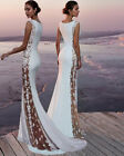 Women Lace Evening Party Ball Prom Gown Formal Cocktail Wedding Long Dress New