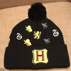 Harry Potter Hogwarts Houses Embroidered Logos Pom Beanie Bioworld Winter Hat