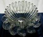 Federal Glass Clear Celestial Punch Bowl + Cups + Hooks + Ladle 26 Piece Set