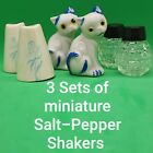 Vintage 1950s Decorative Salt Pepper Shakers Lot Of THREE Sets Miniatures