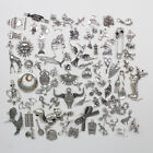 Antique Silver Jewelry Finding Charms Pendants Carfts DIY 100 kinds