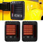 LED Tail Lights Black Housing Smoke Brake Lamps For Jeep Wrangler JK 2007 2017