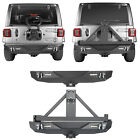 Rear Bumper w/ Tire Carrier & 2inch Receiver Hitch For Jeep Wrangler JL 18-19