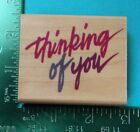 THINKING OF YOU Saying Rubber Stamp by RUBBER STAMPEDE