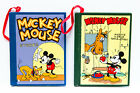 Vintage Disney MICKEY MOUSE Wooden Book Christmas Ornaments  NEW  Free S