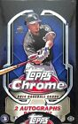 2014 Topps Chrome Baseball Sealed Hobby Box - 2 Autos per Box