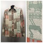 1970s Novelty Button Down Shirt 70s Western Native American Print L S Medium