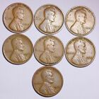 7 Different 1920s Lincoln Wheat Cent Penny LOWEST PRICE ON THE BAY FREE SHIPIN
