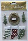 Jolees Boutique 3d Christmas Stickers Santa Flying Reindeer Poinsettia Snowmen