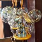 Disney World Retired Globe Glass 4 Parks in 1 Cinderella Glass Ornament NWT