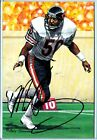Bears MIKE SINGLETARY autograph auto signed Goal Line Art Gold Seal card 78 100