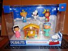 Peanuts Nativity Deluxe Figure Set Annual Christmas Pageant Charlie Lucy Snoopy