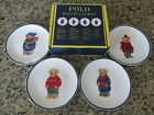 Polo RALPH LAUREN Polo Bear Canape Dessert Cookie Plate Set of 4