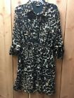Indulge womens animal print button up dress size 1X