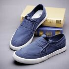 Mens Canvas Loafers Slip On Flat Slippers Fashion Sneakers Board Casual Shoes 5