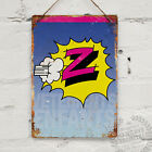Z Team Portrait Jersey Vintage Metal Wall Sign Plaque Mancave Bike Cycling Retro