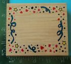 CONFETTI and STREAMERS FRAME Rubber Stamp by Inkadinkado