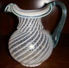 FENTON French Opal Spiral Optic PITCHER with label MINT