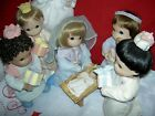 Precious Moments Nativity complete set of 9 Holy Family 12 dolls +accessories