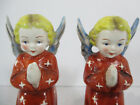 Hummel Goebel Angel Figurines Kneeling Nativity Red Robe 2 pcs Vtg TMK 2 HE 1 1