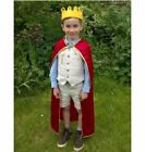King Costume wise man Velvet robe and jewel crown Queen child adult felt kids