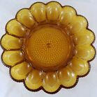 Indiana Glass Amber Hobnail Egg Relish Tray Platter