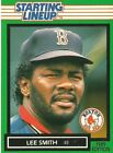 1989 Lee Smith Boston Red Sox Card Starting Lineup SLU MLB Baseball