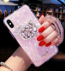 Cute Cat Rabbit Diamond Bracelet Strap Case Cover for iPhone 11 XS Max Samsung