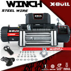 X BULL 12V Electric Winch 13000LBS Recovery Winch Steel Cable 4WD Towing Track