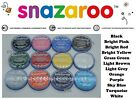 HUGE set 12 TUBS of SNAZAROO CLASSIC FACE PAINTS colours