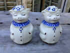 VINTAGE SHAWNEE WINNIE THE PIG BLUE COLLAR DAISY SALT  PEPPER SHAKERS
