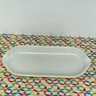 Fiestaware White Relish Tray Fiesta Retired Corn on the Cob Utility Tray