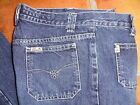 MISS SIXTY VINTAGE PATCH POCKET DARK WASH LOW RISE FLARE JEANS SIZE 29 INSEAM 33