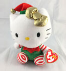 Hello Kitty Christmas Holiday Elf TY Beanie Babies New with Tags
