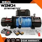 X BULL Electric Winch 12000lbs 12V Synthetic Rope 2 Remote Control 4WD New Model