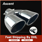 Universal Chrome Stainless Steel Car Rear Round Exhaust Pipe Tail Muffler Tipsx1