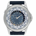 Patek Philippe World Time 5130P Platinum blue & silver dial 39mm Automatic...