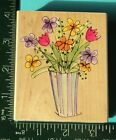 STRIPED VASE SKETCH FLOWERS Rubber Stamp by Hero Arts Artistic Drawings
