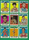 1971-72 Topps Basketball lot of 161 diff cards Unseld Thurmond Lucas Alcindor
