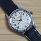 Vintage FORTIS Swiss Made Manual Wind Stainless Steel Men's Watch Leather Band