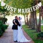 Just Married Wedding Banner Paper Card Bunting Bridal Wedding Crafts Decor