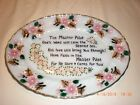 Vintage glass anchor hocking fire king hand painted serving platter