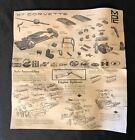 vintage 1967 Corvette MPC Model Kit Instruction Sheet - 161-04 - use as art
