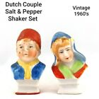 Vintage Dutch Couple in Native Dress Salt and Pepper Shaker Set Collectibles
