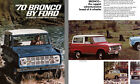 Ford 1970 70 Bronco by Ford All Purpose 4 Wheel Drive Vehicles