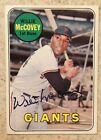 1969 Topps Willie McCovey #440 Signed Auto Blue