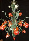 Custom made UNIQUE MURANO GLASS CHANDELIER IRIS VAN GOGH Limited edition Red